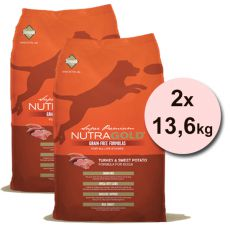 NUTRA GOLD Turkey&Sweet Potato GRAIN FREE - 2 x 13,6 kg