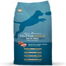 NUTRA GOLD Whitefish&Sweet Potato GRAIN FREE - 13,6 kg