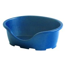 Postelja za psa PERLA 3, modra - 66 x 46 x 25 cm