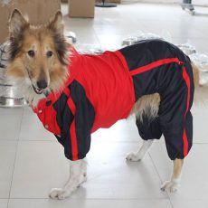 Pasja obleka – rdeče-črna, L-XS