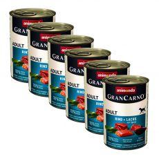 Konzerva GranCarno Original Adult z govedino, lososom in špinačo - 6 x 400 g