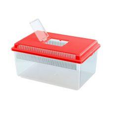 Transportna škatla za plazilce in žuželke GEO FLAT SMALL - rdeča, 4 l