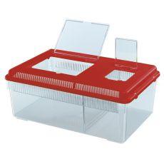Transportna škatla za plazilce in žuželke GEO FLAT LARGE - rdeča, 8 l