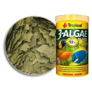 Ribja hrana v kosmičih TROPICAL 3-Algae 250 ml/50 g