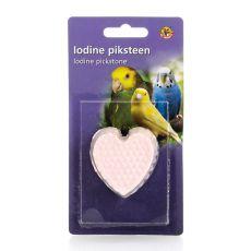 Mineralno srce z jodom za ptice - 50g