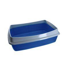 Mačje stranišče - modro - 54,5 x 40 x 18 cm