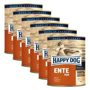 Happy Dog Pur - raca, 6 x 800 g, 5 + 1 GRATIS