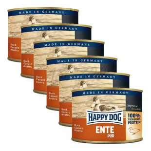 Happy Dog Pur - raca, 6 x 200 g, 5 + 1 GRATIS