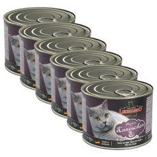Mokra hrana za mačke Leonardo - zajec 6 x 200 g
