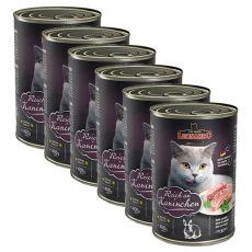 Mokra hrana za mačke Leonardo - zajec 6 x 400 g