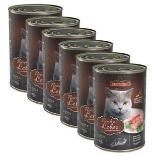 Mokra hrana za mačke Leonardo - jetra 6 x 400 g