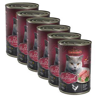 Mokra hrana za mačke Leonardo - perutnina 6 x 400 g