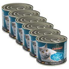 Mokra hrana za mačke Leonardo - riba 6 x 200 g