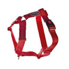 Pasja oprtnica, najlonska - rdeča, 62-100 cm