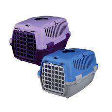 Transportni boks za pse Capri I – 32 x 31 x 48 cm – sivo-moder