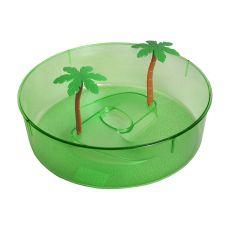 Plastičen terarij za želve - zelen 24,5 cm