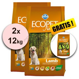 Farmina MO P ECOPET N dog LAMB MINI 2 x 12 + 4 kg GRATIS