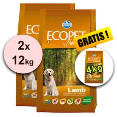 Farmina MO P ECOPET N dog LAMB MEDIUM 2 x 12kg + 4kg BREZPLAČNO