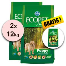 Farmina MO P ECOPET N dog PUPPY MEDIUM 2 x 12kg + 4kg BREZPLAČNO