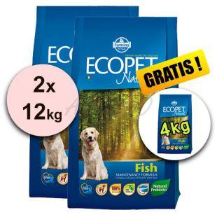 Farmina MO P ECOPET N dog FISH MINI 2 x 12 kg + 4 kg BREZPLAČNO