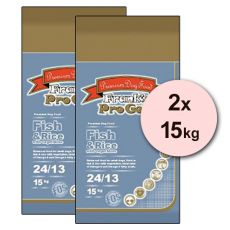 Frank's Pro Gold Fish and Rice 24/13 z zelenjavo - 2 x 15kg