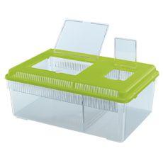 Transportna škatla za plazilce in žuželke GEO FLAT LARGE - zelena, 8 l