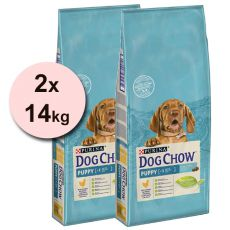 PURINA DOG CHOW PUPPY Chicken & Rice – 2 x 14 kg