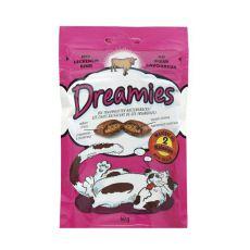 Prigrizek za mačke - DREAMIES blazinice z govedino, 60 g