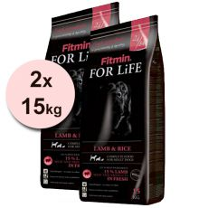 Fitmin FOR LIFE Adult Lamb & Rice 2 x 15kg + BREZPLAČNA DOSTAVA