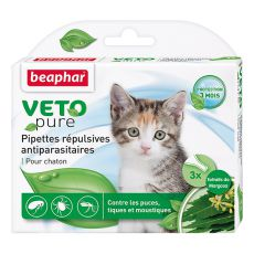 Kapljice z repelentnim učinkom za mačke, naravne - 3 kosi