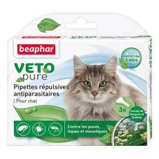 Kapljice proti insektom za mačke, naravne, 3 kosi