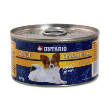 Konzerva ONTARIO Adult za pse s koščki in kosi piščanca, 200 g