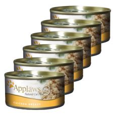Applaws Cat - konzerva mačje hrane s piščančjimi prsmi, 6 x 70 g