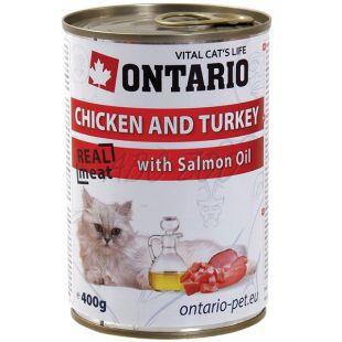 ONTARIO hrana za mačke - piščanec, puran in olje - 400 g