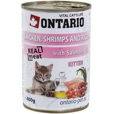 ONTARIO hrana za mladiče - piščanec, kozice, riž in olje - 400 g