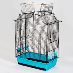 Kletka za papige GRETA CABRIO črna - 49 x 30 x 65 cm