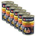 Konzerva ONTARIO z jagnjetino, rižom in oljem za pse - 6 x 400 g