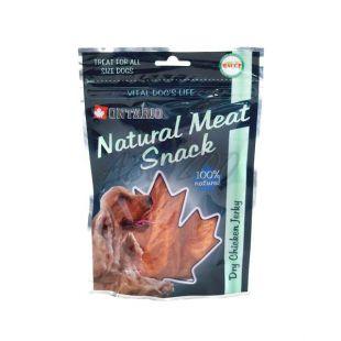 Pasji priboljšek Ontario Dry Chicken Jerky, 70 g