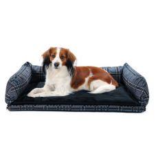 Postelja za psa za v avto - siva, 80 x 60 cm