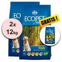 Farmina MO P ECOPET N dog FISH MEDIUM 2 x 12 kg + 4 kg GRATIS