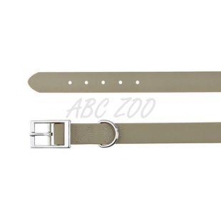 Pasja ovratnica iz PVCja - temno siva L, 51 - 59 cm