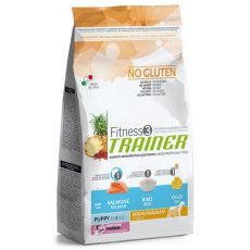 Trainer Fitnes3 Puppy & Junior MEDIUM MAXI - riba in riž - 12,5 kg