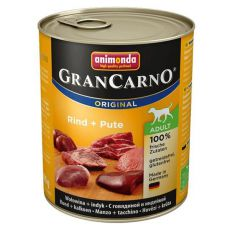Konzerva GranCarno Fleisch Adult govedina + puran - 800 g