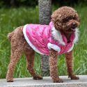 Pasji plašč z odstranljivo kapuco - roza, XL