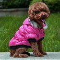 Pasji plašč s črno obrobo - roza, XL