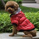 Pasji plašč s črno obrobo - rdeč, XL