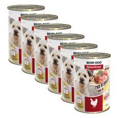 Novo BEWI DOG konzerva – piščanec - 6 x 400 g, 5+1 GRATIS