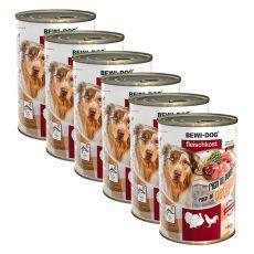 Novo BEWI DOG konzerva – perutnina - 6 x 400 g, 5+1 GRATIS