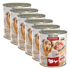 Novo BEWI DOG konzerva – perutnina - 6 x 800 g, 5+1 GRATIS