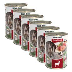 Novo BEWI DOG konzerva – divjačina - 6 x 400 g, 5+1 GRATIS